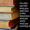 What You Read Print by Marianne Beukema