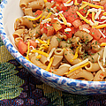 Wheat Pasta Goulash Poster by Andee Photography