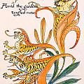 When lilies turned to Tiger Blaze Print by Walter Crane