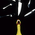 When Rubber Chickens Juggle Poster by Bob Christopher