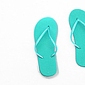 Where On Earth Is Spring - My Aqua Flip Flops Are Waiting Poster by Andee Design