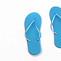 Where On Earth Is Spring - My Blue Flip Flops Are Waiting Poster by Andee Design