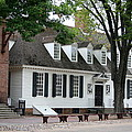 White Clapboard House - Colonial Williamsburg Poster by Christiane Schulze Art And Photography