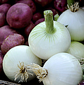 White Onions and Red Potatoes Print by Julie Palencia