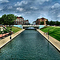 White River Park Canal in Indy Print by Julie Dant