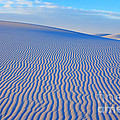 White Sand Patterns New Mexico Print by Bob Christopher