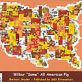 Wilbur Some All American Pig Poster by Barbara Snyder