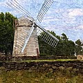 Windmill Print by Diane Goulart