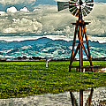 Windmill on the Hills Print by Artist and Photographer Laura Wrede