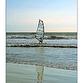 Windsurfing Art Poster - California Collection Print by Ben and Raisa Gertsberg