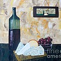 Wine and Cheese Hour Print by JoNeL Art