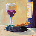 Wine and Cigar Poster by Todd Bandy