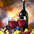 Wine Before and After Poster by Elaine Plesser