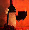 Wine Bottle  Poster by Patricia Awapara