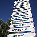Wine country signs Poster by Garry Gay