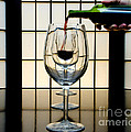 Wine for Three Print by John Debar