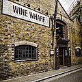 Wine Wharf Poster by Heather Applegate