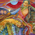 Wine Woman and Song Poster by Jen Norton