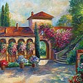 Winery in Tuscany Print by Gina Femrite