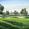 Winged Foot West 18Th Hole Poster by Bill Holkham