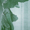 Winged Victory Of Samothrace Statue at the Louvre Museum        Poster by The Art With A Heart By Charlotte Phillips