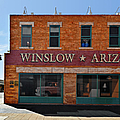 Winslow Arizona on Route 66 Print by Christine Till