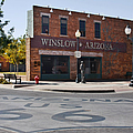 Winslow Arizona - Such a fine sight to see Print by Christine Till