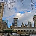 Winter 2014 at Bryant Park B Poster by Dianne Somma