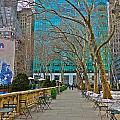 Winter 2014 at Bryant Park C Poster by Dianne Somma