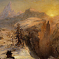 Winter in Switzerland Print by Jasper Francis Cropsey