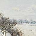 Winter in the Ouse Valley Print by William Fraser Garden