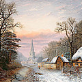 Winter landscape Poster by Charles Leaver