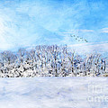 Winter Landscape Poster by Darren Fisher