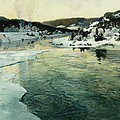 Winter on the Mesna River Near Lillehammer Print by Fritz Thaulow
