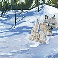 Winter Romp Print by Molly Poole