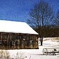 Winter Scenic Farm Print by Christina Rollo