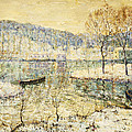 Winter Stream Print by Ernest Lawson