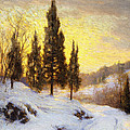 Winter Sundown Poster by Walter Launt Palmer