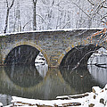 Wintertime at Bells Mill Road Print by Bill Cannon