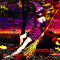 Witch in the Punkin Patch Print by Bob Orsillo