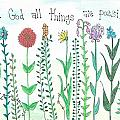With God All Things Poster by Dana Sorrell