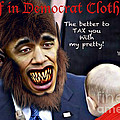 Wolf in Democrat Clothing Poster by Steven Love