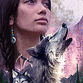 Wolf Montage Poster by Garry Walton
