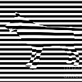 Wolf optical illusion Print by Pixel  Chimp