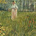 Woman in a Garden Print by Vincent van Gogh