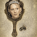 Woman In Mirror Print by Amanda And Christopher Elwell
