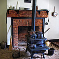 Wood Burning Stove Print by Dave Mills