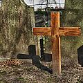 wooden cross Print by Hans Engbers