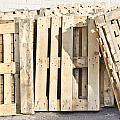 Wooden pallets Poster by Tom Gowanlock