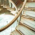 Wooden staircase Print by Tom Gowanlock